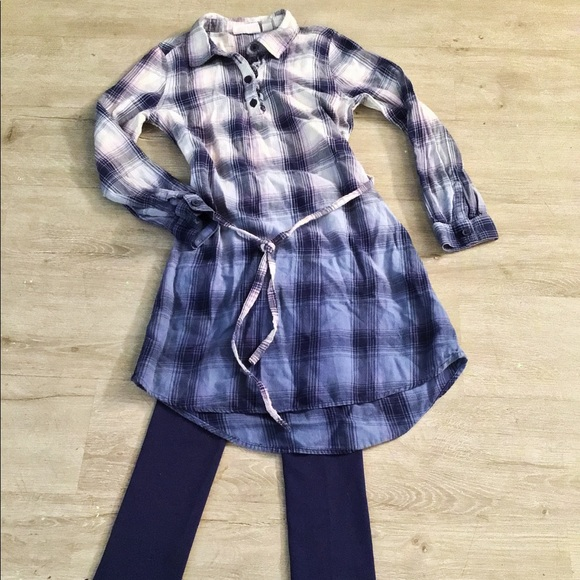 Children's Place plaid dress and leggings